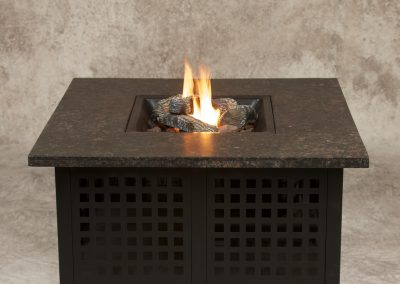 Large Marble Propane Fire Pit