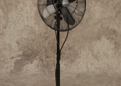 "Black 14"" Pedestal Misting Fan"