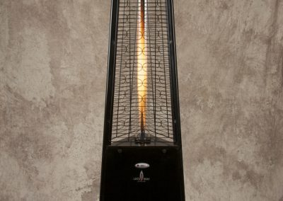 Awesome Black Lava Heat Pyramid Torch Fire Heater
