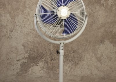 "White 14"" Pedestal Misting Fan"