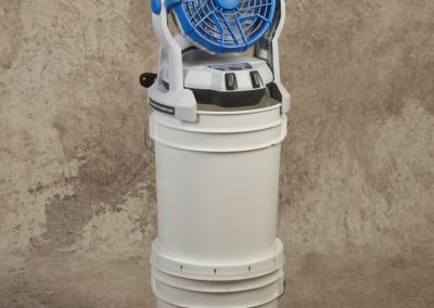 Self Contained Battery Powered Misting Fan