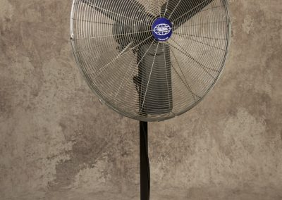 "Stainless 30"" Pedestal Fan"